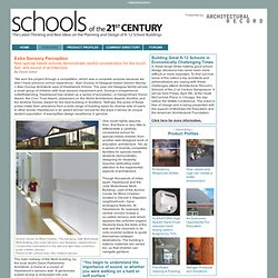 Architectural Record | Schools of the 21st Century | Features | Extra Sensory Perception