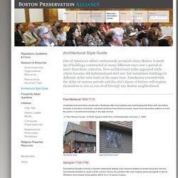 Architectural Style Guide - Boston Preservation Alliance