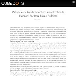 Why Interactive Architectural Visualization Is Essential For Real Estate Builders - Cubedots