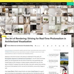 The Art of Rendering: Striving for Real-Time Photorealism in Architectural Visualization