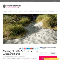 Making of Baltic Sea House Grass and Sand