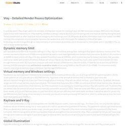 Vray - Подробная Render Pocess Оптимизации - Архитектурная Визуализация