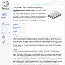 Computer-aided architectural design