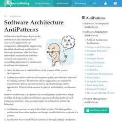 Software Architecture AntiPatterns