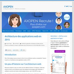 Architecture des applications web en 2015 - AXOPEN