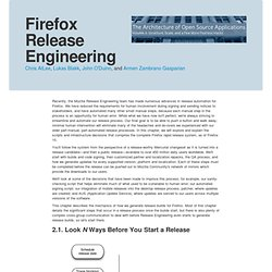 Firefox Release Engineering