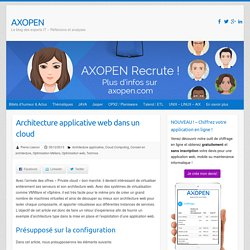 Architecture applicative web dans un cloud - AXOPEN
