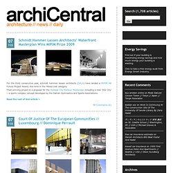 architecture // news // daily @ archiCentral - Part 149