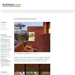 Fortress Brick House by Wise Architecture (KR)