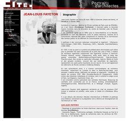 Cité de l'architecture et du patrimoine - Portraits d'architectes / Fayeton