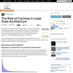The Role of Caching in Large Scale Architecture