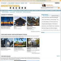 Modern Residential Architecture and Design