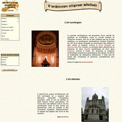 Architecture Religieuse en Occident - Principaux styles architecturaux