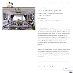 Villa Architecture Design - Scots Baronial Style - Think Studios