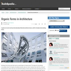 Organic Forms in Architecture