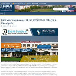 Build your dream career at top architecture colleges in Chandigarh