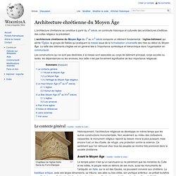 Architecture chrétienne du Moyen Âge