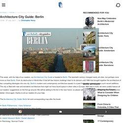 Architecture City Guide: Berlin