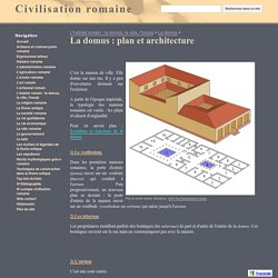 La domus : plan et architecture