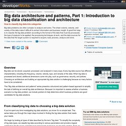 Big data architecture and patterns, Part 1: Introduction to big data classification and architecture