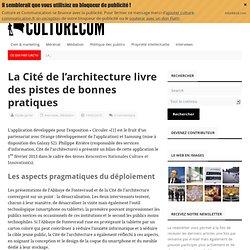 La Cité de l'Architecture livre des pistes de bonnes pratiques
