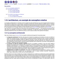 1.3 L'architecture, un exemple de conception créative