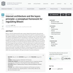 Internet architecture and the layers principle: a conceptual framework for regulating Bitcoin