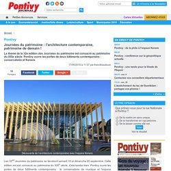 Pontivy. Journées du patrimoine : l'architecture contemporaine, patrimoine de demain ! « Article