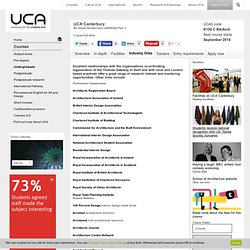 Architecture Degree | ARB/RIBA Validated Course | Industry Links | UCA