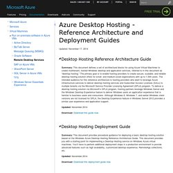 Desktop Hosting Reference Architecture & Deployment