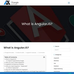 What is AngularJS? AngularJs Architecture Modules