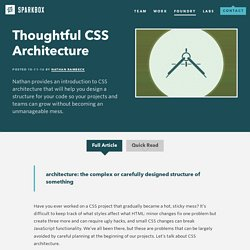 Thoughtful CSS Architecture