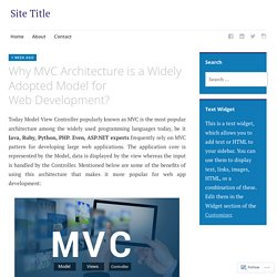 Why MVC Architecture is a Widely Adopted Model for Web Development?