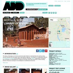Architecture In Development - Library of Muyinga