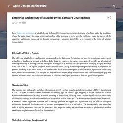 Enterprise Architecture of a Model-Driven Software Development