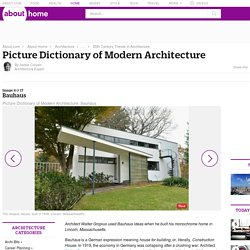 Bauhaus Architecture - Picture Dictionary of Modern Architecture - Bauhaus