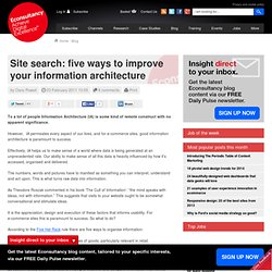 Site search: five ways to improve your information architecture