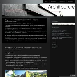ARCHITECTURE DESIGN STUDIO 3 [ARC 2116]