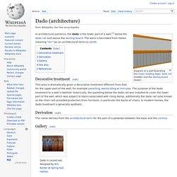 Dado (architecture)