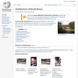Architecture of South Korea