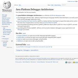 Java Platform Debugger Architecture