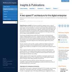 A two-speed IT architecture for the digital enterprise