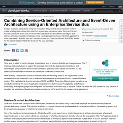 Combining Service-Oriented Architecture and Event-Driven Architecture using an Enterprise Service Bus
