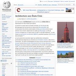 Architecture aux États-Unis