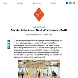 DIY Architecture: First WikiHouses Built - The Pop-Up City - Waterfox