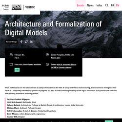 L'architecture et la formalisation des modèles numériques