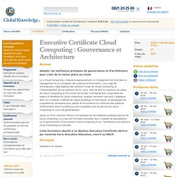 Executive Certificate Cloud Computing : Gouvernance et Architecture