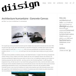 Architecture humanitaire : Concrete Canvas « diisign