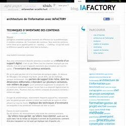 architecture de l'information avec IAFACTORY