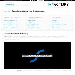 Formation en architecture de l'information